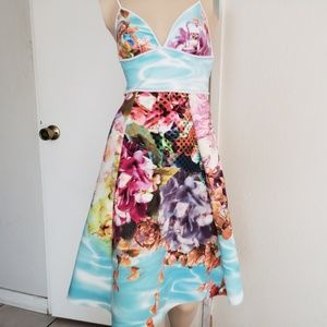 Clover canyon xs floral Hawaii dress